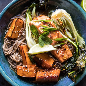 Chilli Ginger Salmon with Soba Noodle Bowl Recipe