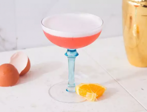Valentine's Day Gin Campari Sour