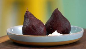 Valentine's Day Spiced Poached Pears for Two