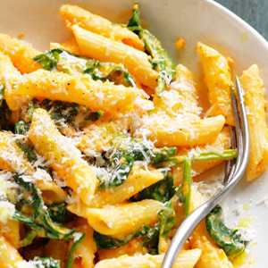 Sweet Potato Alfredo Penne