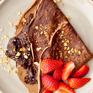 Chocolate Pancakes with Chocolate Hazelnut Spread Recipe