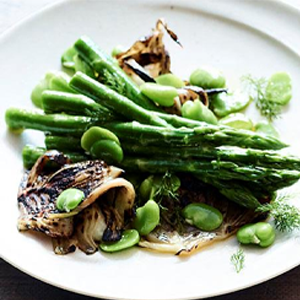 Grilled Fennel & Asparagus Salad