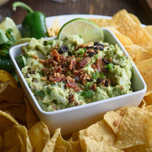 Sundried Tomato Bacon Guacamole