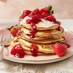 Strawberry Cheesecake Pancakes Valentines Recipe