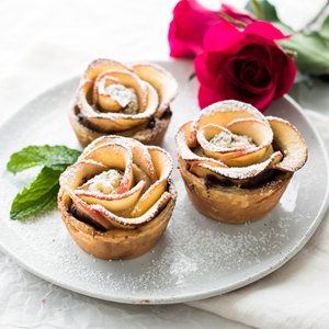 Puff Pastry Nutella Apple Roses Valentines Recipe