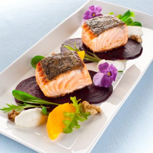 Huon Salmon with Goat's Cheese & Beetroot Salad Valentine's Recipe