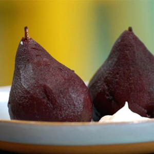 Spiced Poached Pears Valentine's Recipe