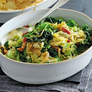 Cabbage with Bacon & Onions