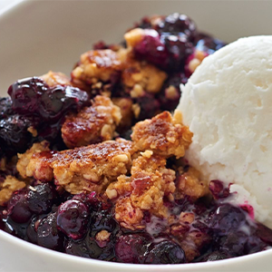 Blueberry Anzac Biscuit Crumble Recipe