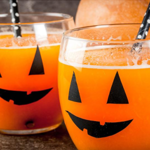 Jack O'lantern juice halloween treats