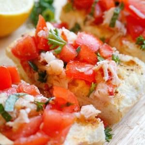 Crayfish Bruschetta Easter Recipe
