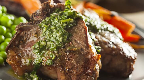 Lamb Chops with Chimichurri Sauce Recipe