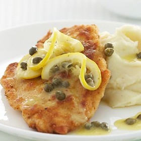 Cooked Chicken Breast Schnitzel Oktoberfest